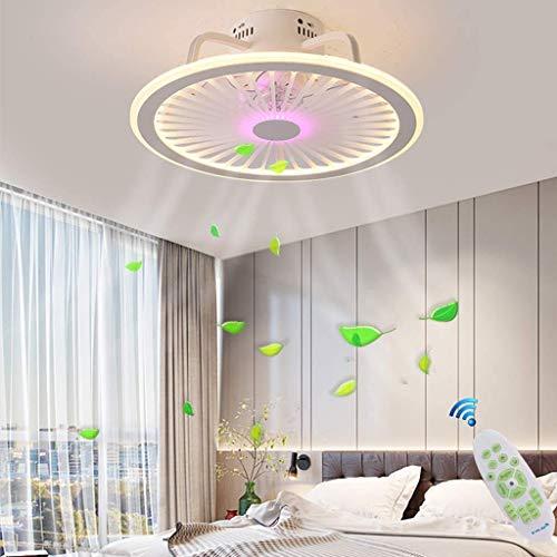 AI LI WEI Ventilador de Techo con luz LED y Mando Regulable Remoto Control silencioso Puede sincronización Alexa Adecuado for Habitaciones de niños Dormitorio Restaurante 60W Lustre