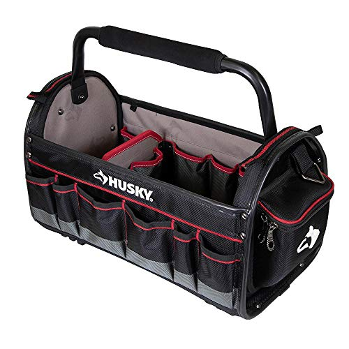 HUSKY 67129-02 20 in. Pro Tool Tote with Removable Tool Wall