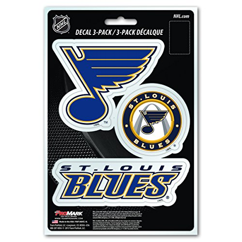 NHL St. Louis Blues Team Decal, 3-Pack