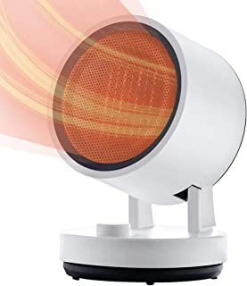 iOCHOW セラミックヒーター ファンヒーター 小型 電気ストーブ 小型足元ヒーター 暖房器 送風高熱低熱 コンパクト 左右首振り 暖房 速暖タイプ 安心安全 DNQ-T7