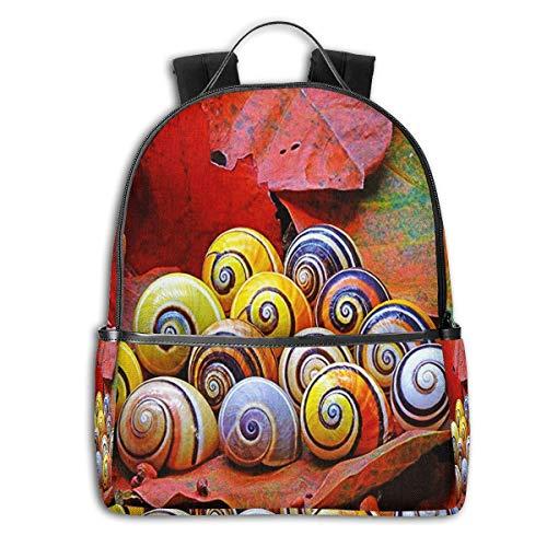 Schulrucksack Schultaschen Mädchen Teenager Rucksack Schultasche Schulrucksäcke wasserdichte Backpack für Damen Herren Geeignet für 14 Zoll Notebook Hübsche Schneckenhäuser