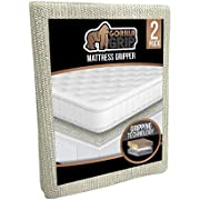 Gorilla Grip Original Slip Resistant Mattress Gripper Pad, King Size, Helps Stop Bed and Topper from Sliding, Stopper Works on Sofa, Futon, Couch, Easy to Trim, Strong, Grips Help Slipping, 2 Pack