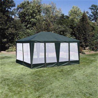 Sun-Mart Deluxe Screen House, Party Tent 15x12ft Green