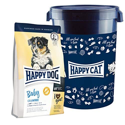 Happy Dog Baby Grainfree 10 kg + 35 Liter Futtertonne inklusive Deckel