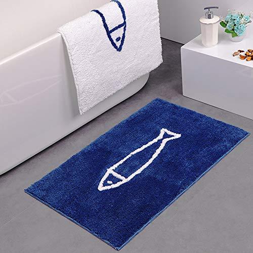 Antislip badmat, kerstdecoratie, slipvaste badmat, antislip, mat Blauwe bodem.