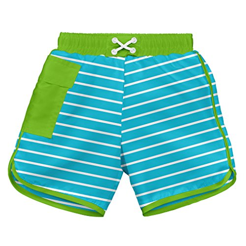 i play. 722185-638-42 Schwimmwindel Board Shorts, 3-6 Monate, Stripe, aqua