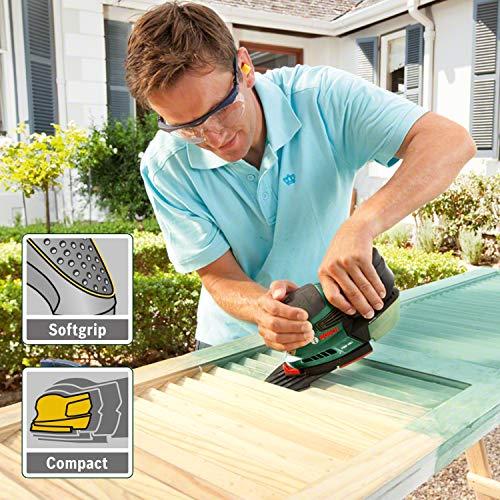 (Livré sans batterie ni chargeur, avec 3 feuilles abrasives G 80, G 120, G 160)Ponceuse multi sans-fil Bosch - PSM 18 LI