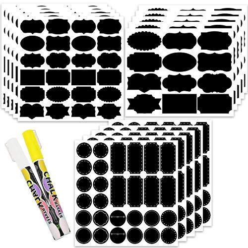 LeeLoon Chalkboard Labels – 320 PCS Chalkboard Stickers Erasable Removable Labels Waterproof Kitchen Label Stickers with…