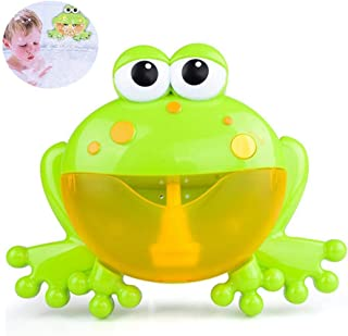 Bath Bubble Machine Frog Toy for Baby, Teepao Automatic Bubble Maker Blower ABS Eco-Friendly Materials Music Player Baby(Over 18 Months) Children Kids Happy Tub Time