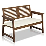 FURINNO Tioman Hardwood Outdoor Bench in Teak Oil