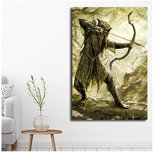 Impression sur toile Seigneur des anneaux elfe Hobbit toile peinture  impression salon décor à la maison moderne mur Art peinture à l\'huile  affiche ...
