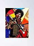 AZSTEEL Jimi Hendrix Poster Poster 11.7 * 16.5
