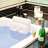Bathtub Pillow Spa Bath Cushion Head,Neck,Shoulder and Back Support Rest with 7 Non-Slip Strong Suction Cups