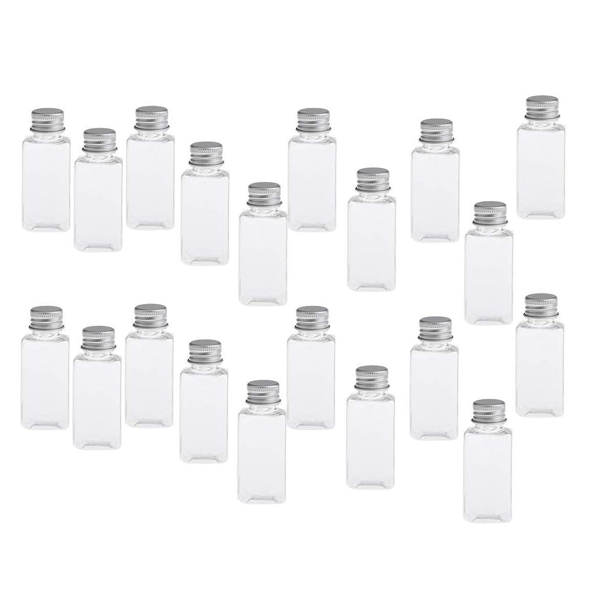 残酷な悲観的マトンDYNWAVE 約20個 化粧ボトル 香水ボトル 詰め替え 空のボトル 小分け ネジ蓋付 漏れ防止 30ML 全8色 - クリアシルバー