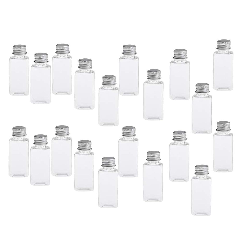 DYNWAVE 約20個 化粧ボトル 香水ボトル 詰め替え 空のボトル 小分け ネジ蓋付 漏れ防止 30ML 全8色 - クリアシルバー