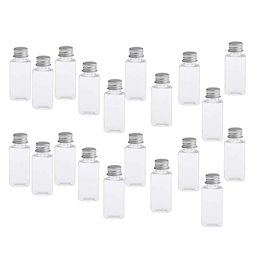 Perfeclan 30ML 空のボトル 詰替え容器 PETボトル 化粧品 エッセンシャルオイル 香水 小分け 約20個 - クリアシルバー