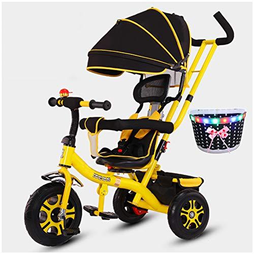 WWSC Tricycle Fahrrad 1-3-5 Jahre Alt Baby-Kind-Baby-Spaziergänger Schlender Baby-Artifact Fahrradkinder -sicheres...