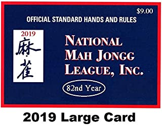 National Mah Jongg League 2019 Large Size Card - Mah Jongg Card