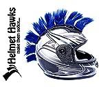 Helmet Hawks Motorcycle, Ski or Snowboard Helmet Mohawk w/Sticky Hook and Loop Fastener Adhesive (8) Patches 2' long x 3' Tall - Deep Ocean Blue