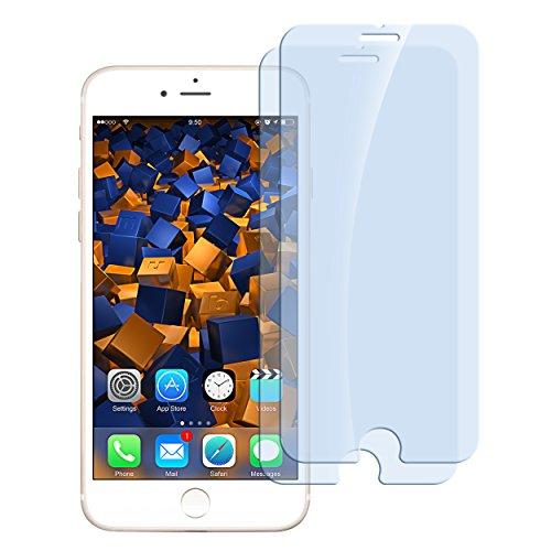 mumbi ECO Hart Glas Folie kompatibel mit iPhone 7 Panzerfolie, iPhone 8 Panzerfolie, Schutzfolie Schutzglas (2X)