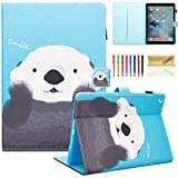 iPad Case 9.7' 2018/2017 Case, Dteck Slim Lightweight PU Leather Smart Stand Case with [Pencil Holder][Corner Protection] Protective Case for iPad 9.7 Inch Tablet - Cute Bear