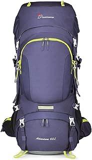 SP-Xhz Mountaineering Bag Multi-Function Outdoor Walking Equipment Equipment Backpack Men and Women Climbing Bag (Color : Purple, Size : 60l)