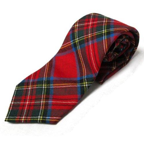 Ingles Buchan Caballeros 100% lana tartán real de Stewart corbata para Hombres Approx 3.5\ x 56\ (9cm x 144cm) rojo