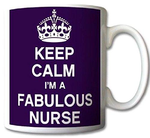 Keep Calm I'm A Fabulous Nurse Mug Cup Gift Retro by GrassVillageTM