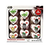 Star Wars Valentines Day Friendship Exchange Candy Filled Hearts, 22 Count