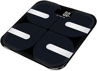 HYDKU Básculas Digitales LCD electrónica Baño Báscula Digital Inteligente Escala de Grasa Corporal del Peso de Balance de Suelo Bluetooth Escala Conectar aplicación de iOS