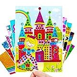 TLBBJ Juguetes artesanales 5pc Crafts Kids Niños Juguetes para niños Diamante Etiqueta Puzzle Material de Kindergarten DIY Crafts Niños Juguetes para niñas Juguetes para niños Sencillo