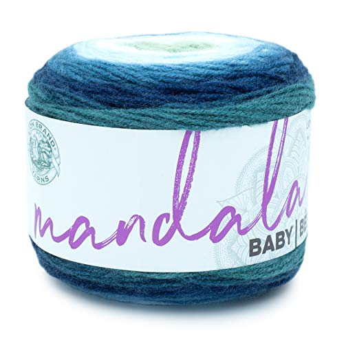 Lion Brand Yarn Company 526-205 Mandala Baby Yarn, Echo Caves, una madeja