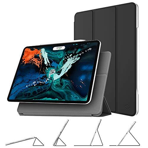 Fintie hoes compatibel met iPad Pro 12.9 2018 (compatibel met Pencil 2e gen, draadloze oplaadfunctie), magnetische bevestigingshoes met multi-hoek. zwart