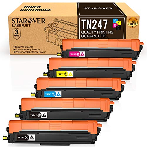 STAROVER Cartucho de Tóner Compatible Repuesto para Brother TN247 TN243 para HL-L3210CW HL-L3230CDW HL-L3270CDW MFC-L3710CW MFC-L3730CDN MFC-L3750CDW MFC-L3770CDW DCP-L3510CDW DCP-L3550CDW(5 Paquete)