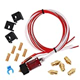 Creality 3D Upgrade Assembled Extruder Hotend, MK8 Extruder Hot End Kit for Creality CR-10 S-S4 S5 3D Printer, 1.75mm Filament, 0.4mm Nozzle, Hotbed Spings, 12V 40W