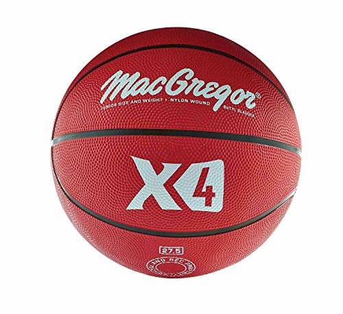 Find Bargain MacGregor Rubber Junior Basketball (Red)