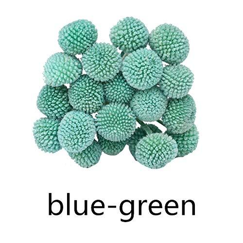 INVISIKAYAK Craspedia globosa Material Flor Inmortal Flores Eternas Regalo, Azul y verde., 40pcs