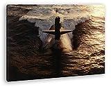 deyoli gewaltiges U-Boot im Format: 80x60 als Leinwandbild,
