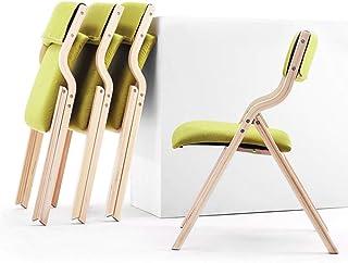 Silla plegable verde, Conjunto de 4 sillas, niños silla de camping, silla de la cocina, estable y duradera, extraíbles y lavable del asiento de presentación, fácil de limpiar, puede soportar un máximo