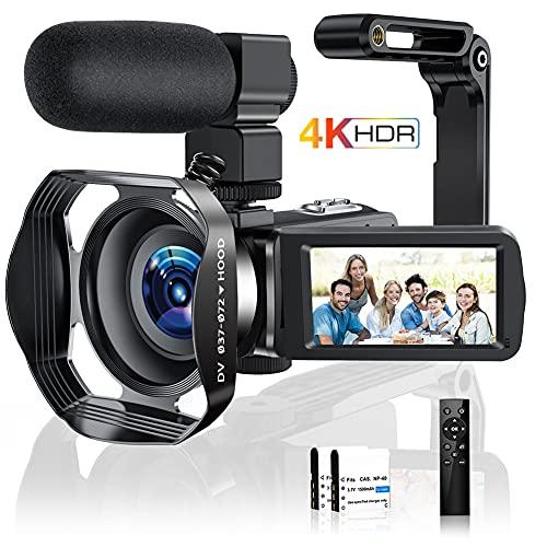 4K Videokamera Camcorder Ultra HD 48MP...