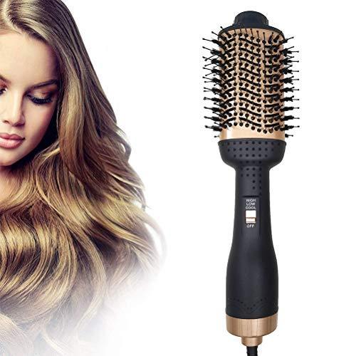 Uyuke Haartrockner, 5 In 1 Upgrade Warmluftbürste Hair Dryer Volumizer Styler Heißluftbürste Negativer Ionen Föhnbürste Stylingbürsten Haarglätter Bürste Heißluftkamm Föhn Für Alle Styling