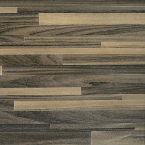 Klebefolie Holzoptik Parkett Braun, Dekofolie, Möbelfolie, Tapeten, selbstklebende Folie, PVC, ohne Phthalate, Natur-Holzoptik, 45cm x 3m, 95µm (Stärke: 0,095 mm), Venilia 53153