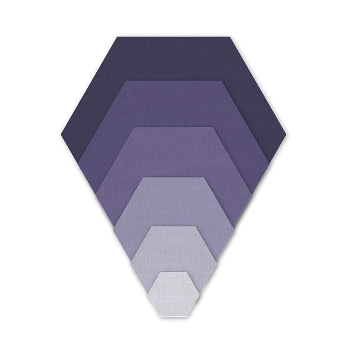 Crafter's Edge Q1077 Hexagons (in Half in increments)