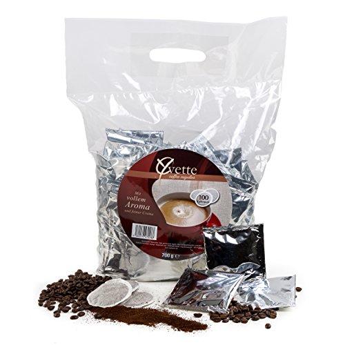 Yvette Megabeutel Regular Kaffeepads, Einzeln Verpackt, Röstkaffee, Kaffee, passend für Senseo, 100 Pads