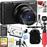 Sony RX100 VA 20.1 MP Cyber-shot Digital Camera w/ 3' OLED DSC-RX100M5A + 64GB SDXC Memory Dual Battery Kit + Accessory Bundle
