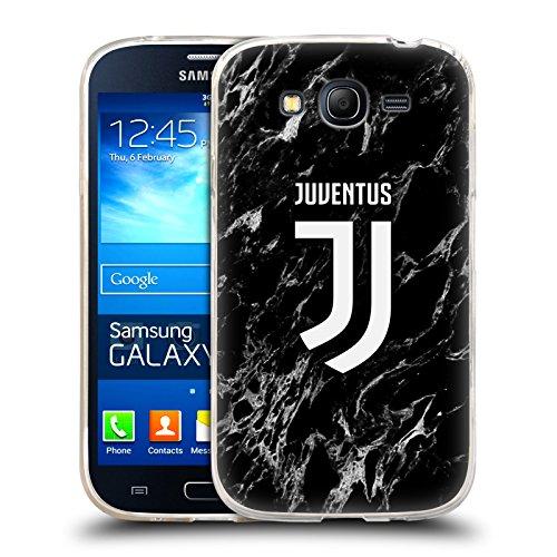 Head Case Designs Ufficiale Juventus Football Club Nero 2017/18 Marmoreo Cover in Morbido Gel Compatibile con Samsung Galaxy Grand Neo