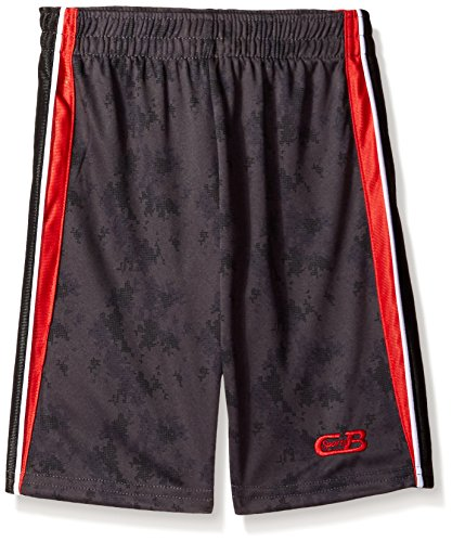 CB Sports Big Boys' Athletic Short, TH08-Engine Red/Stripe, 10/12