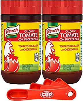 Knorr Granulated Bouillon Tomato with Chicken Flavor 7.9 oz  Pack of 2  with By The Cup Swivel Spoon