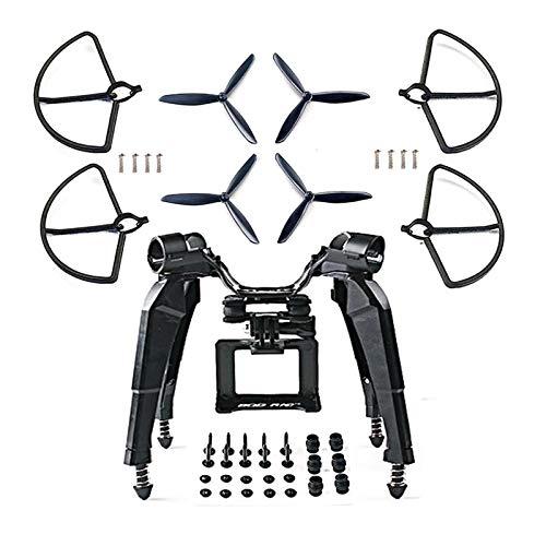 BliliDIY Potenziamento Della Protezione Della Forcella Con Supporto Per Telecamera Di Atterraggio A Molla Aggiornato Per Drone Hubsan H501S X4 - Bianca