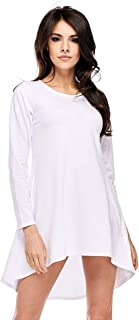 Dykmod Tunika Locker - Camiseta de manga larga asimétrica (tallas 36, 38, 40, 42, 44, 46, 48, 50)